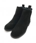 emu(エミュー)の古着「スウェードサイドゴアショートブーツ」 ブラック