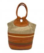 genten(ゲンテン)の古着「切替ハンドバッグ」|ベージュ×ブラウン