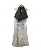 RICK OWENS(リックオウエンス)の古着「コーティングコットンベルテッドコート」|グレー×ブラック