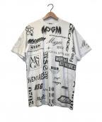 MSGM(エムエスジーエム)の古着「カオスプリントTシャツ」|ホワイト