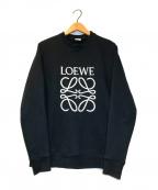 LOEWE()の古着「アナグラムエンブロイダリークルーネックスウェット」|ブラック