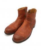 PADRONE(パドローネ)の古着「サイドジップショートブーツ」 ブラウン