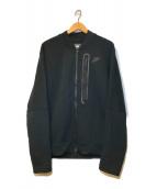 ()の古着「テックフリースボンバージャケット」|ブラック