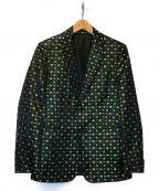 VALENTINO(ヴァレンティノ)の古着「クローバー総柄2Bテーラードジャケット」 ブラック