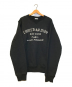 DIOR HOMME(ディオール オム)の古着「アトリエロゴクルーネックスウェット」 ブラック