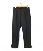 NEAT(ニート)の古着「2タックウールテーパードパンツ」|ブラック