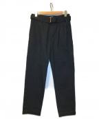 CULLNI(クルニ)の古着「ベルト付きタックテーパードパンツ」 ブラック