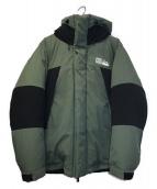 ()の古着「ダウンジャケット」 グリーン×ブラック
