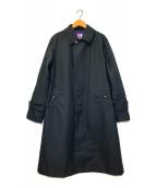 ()の古着「ステンカラーコート」 ネイビー
