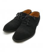 SCOTCH GRAIN(スコッチグレイン)の古着「メダリオンレザーシューズ」 ブラック