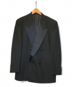 Yves Saint Laurent(イヴサンローラン)の古着「[OLD]ピークドラペルダブルブレストジャケット」 ブラック