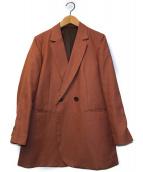 ()の古着「マットクロス ダブルテーラードジャケット」|オレンジ