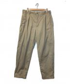 Engineered Garments(エンジニアドガーメンツ)の古着「タックテーパードパンツ」|ベージュ