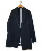 icB(アイシービー)の古着「リネンブレンドテーラードジャケット」|ブラック
