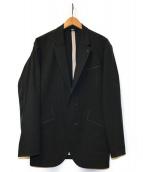()の古着「ノンシームステッチジャケット」 ブラック