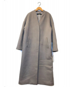 ()の古着「スーパー140ビーバーVネックコート」|グレー