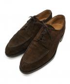 Lloyd footwear(ロイドフットウェア)の古着「スウェードUチップシューズ」|ブラウン