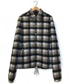RICK OWENS(リックオウエンス)の古着「マルチカラーチェックジャケット」|ブラウン×グレー