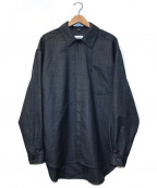 lownn(ローン)の古着「ウールチェックシャツジャケット」|ブラック