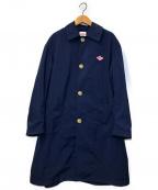 DANTON(ダントン)の古着「ナイロンタフタワークステンカラーコート」|ネイビー