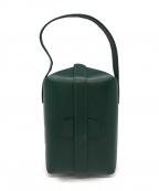 Valextra(ヴァレクストラ)の古着「トリックトラックハンドバッグ」|グリーン