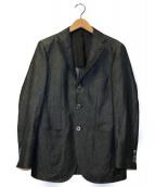 ()の古着「ウールリネンソリッド3Bテーラードジャケット」 グレー