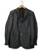salotto di guji(サロットディグジ)の古着「ウールリネンソリッド3Bテーラードジャケット」 グレー