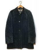 ()の古着「ピッグレザースウェードハーフコート」|ブラック