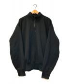 ()の古着「ハイネックハーフジップスウェット」|ブラック