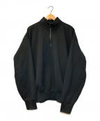AURALEE(オーラリー)の古着「ハイネックハーフジップスウェット」 ブラック