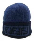 FENDI(フェンディ)の古着「カシミヤブレンドニット帽」|ネイビー