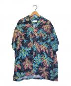 NEON SIGN(ネオンサイン)の古着「グッドラックハワイアンアロハシャツ」|ブラック