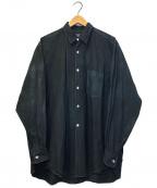 COMME des GARCONS HOMME()の古着「90'sパネル切替L/Sシャツ」|ブラック