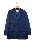 PRADA()の古着「パッチデザインテーラードジャケット」|ネイビー
