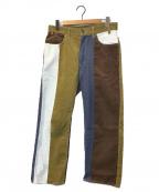 AiE(エーアイイー)の古着「ランダムパターンコーデュロイパンツ」 ブラウン