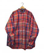 DAIWA PIER39(ダイワピア39)の古着「テックワークL/Sチェックシャツ」 ブルー×オレンジ