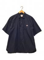 DANTON()の古着「コットンポプリンS/Sシャツ」|ネイビー
