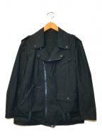 REGULATION Yohji Yamamoto(レギュレーションヨウジヤマモト)の古着「デザインコットンダブルライダースジャケット」|ブラック
