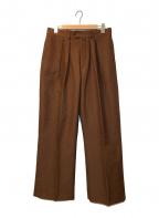 NEAT(ニート)の古着「2タックワイドスラックスパンツ」|ブラウン