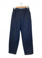 CellarDoor(セラードアー)の古着「ワイドテーパードデニムパンツ」|インディゴ