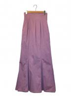 Snidel(スナイデル)の古着「ハイウエストヘムフレアロングスカート」|パープル
