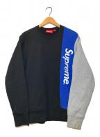 SUPREME(シュプリーム)の古着「パネルドクルーネックスウェットP/O」 ブラック