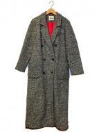 ()の古着「80'sダブルブレストロングチェスターコート」 グレー