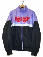 NERDY(ノルディ)の古着「ロゴプリントトラックジャケット」 パープル×ブラック