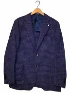 TAGLIATORE×Brilla per il gusto(タリアトーレ×ブリッラペルイルグスト)の古着「チェックテーラードジャケット」 ブルー