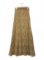 CLANE(クラネ)の古着「クラシックレースマーメイドロングスカート」 ベージュ