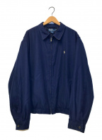 POLO RALPH LAUREN(ポロ・ラルフローレン)の古着「オールドワンポイント刺繍スイングトップ」 ネイビー