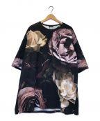 LAD MUSICIAN()の古着「花柄スーパービッグTシャツ」|ブラック