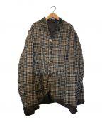 KOLOR()の古着「ウールチェックジャケット」|ブラウン