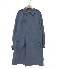 Paul Stuart(ポール スチュアート)の古着「LIMONTAトレンチコート」|スカイブルー